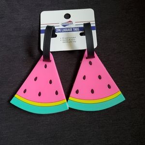 Luggage Tags Labels Watermelon Slice-  Name, Addre